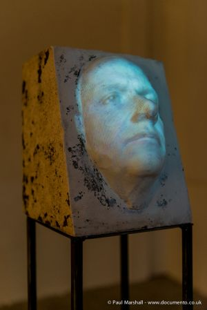 Paul Marshall - Bloody Friday - Plaster, Steel & Video Projection